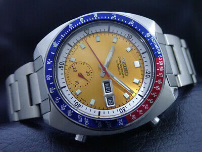 $ CDN442.92 • Buy Vintage 6139-6002 Automatic Chronograph Mens Watch PEPSI Yellow