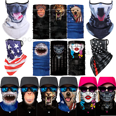 $11.98 • Buy Skull Animal Neck Gaiter Tube Bandana Scarf Face Mask Cover Balaclava Reusable