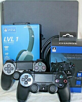 AU460 • Buy PS4 Slim 1tb Console CUH-2202B + 2 Controllers + Charger + Headset + Cord