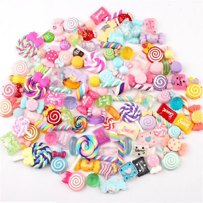AU14.75 • Buy 30Pcs Colorful Slime Beads Resin Candy Flatbacks Scrapbooking Charms DIY Crafts