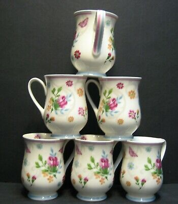 £20.95 • Buy Set Of 2x/4x/6x  Just Floral Bone China Mugs Belly Shape By Data
