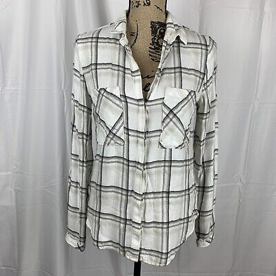 $ CDN13.41 • Buy Anthropologie Cloth & Stone Womens Top Size XS Plaid Button Down Shirt Cotton