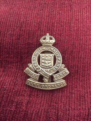 Authentic Royal Corps Army Ordnance Cap Badge  Honi Soit Qui Mal Y Pense  • 3.10£
