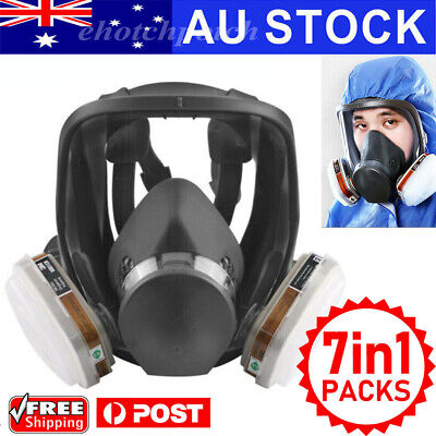 AU25.98 • Buy Gas Mask 7 In 1 Full Face Chemical Spray Painting Safety Respirator Vapour 6800