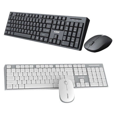2.4G  Wireless Keyboard Mouse Combo Set Mute Buttons For IMac/PC/Laptop • 18.89£