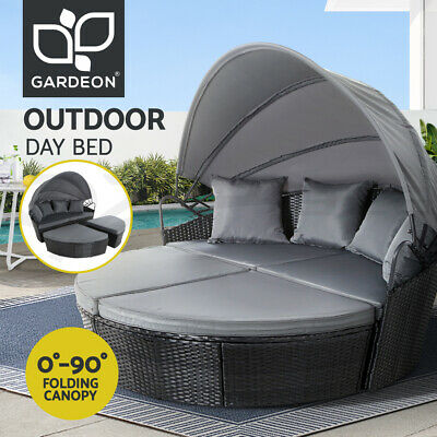AU699.90 • Buy Gardeon Outdoor Lounge Setting Patio Furniture Sofa Wicker Rattan Garden Day Bed
