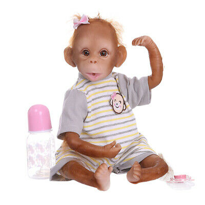 16inch 40CM Reborn Baby Monkey, Handmade Detailed Paint Newborn Doll Collectible • 49.87£