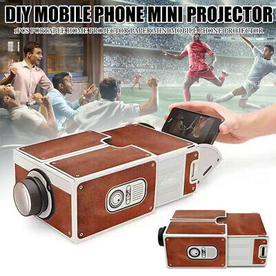 AU26.96 • Buy Mini Smart Phone Projector DIY Cardboard Theater Cinema For Android IPhone