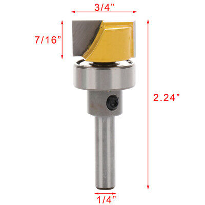 1/4 Inch Shank Hinge Mortise Template Router Bit Wood Working Milling Cutter DIY • 6.15£