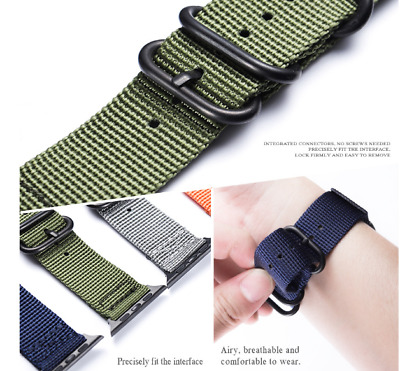 AU16.99 • Buy Woven Nylon Sport Loop Band Strap For IWatch Apple Watch Series 1 2 3 4 5 6 SE