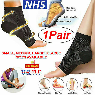 2x Plantar Fasciitis Socks Compression Foot Arch Support Pain Ankle Relief Pair • 2.85£