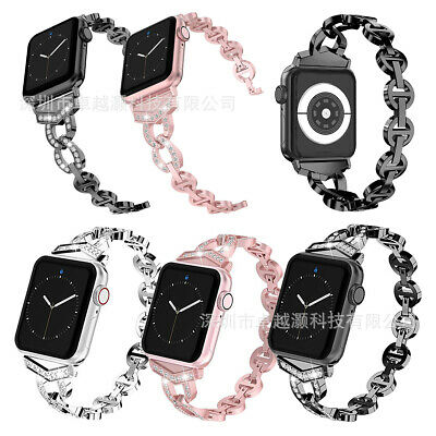AU20.99 • Buy For Apple Watch Series 6 5 4 3 2 SE Lady Bling Band Strap Rhinestone Diamond
