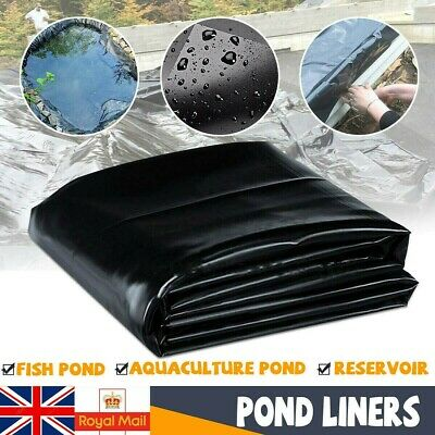 Large Fish Pond Liners Gardens Pools HDPE Liner Membrane Reinforced Landscaping • 14.99£