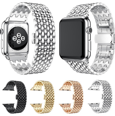 AU19.99 • Buy For Apple Watch Band Series 6 5 4 3 SE Stainless Steel Metal IWatch Band Strap