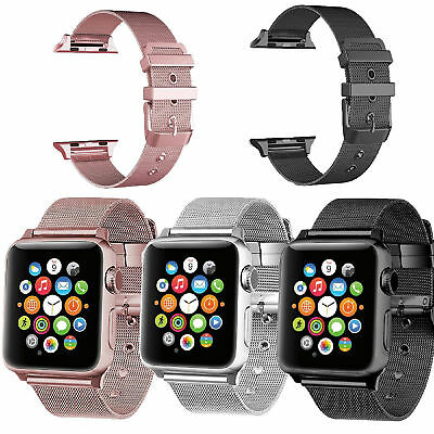 AU16.99 • Buy Metal Milanese Strap Wrist Band For Apple Watch Series 6 5 4 3 2 1 Se Iwatch