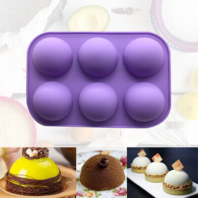 3D Half Ball 6 Cell Silicone Chocolate Mold Sphere Cupcake Cake Baking Mold Gift • 2.99£