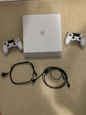 AU480 • Buy PS4 Pro Console 1tb White, Two Controllers, Controller Charger And 4 Games.