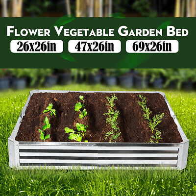 UK Metal Raised Garden Beds Patio Backyard Flower Vegetable Planter Basket Box  • 28.99£