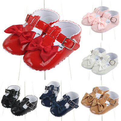 Toddler Baby Shoes Newborn Girls Soft Sole Trainer Shoes Bowknot Crib Kids UK • 5.39£