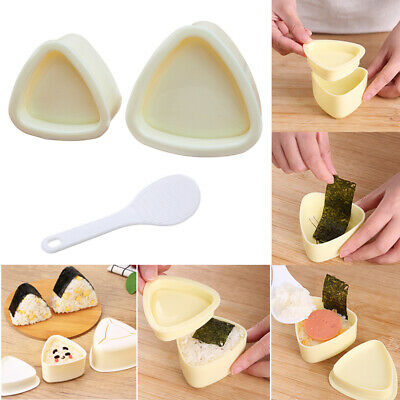 Home Kitchen Sushi Mold Rice Ball Food Press Moulds Triangular /Plum Blossom • 5.18£