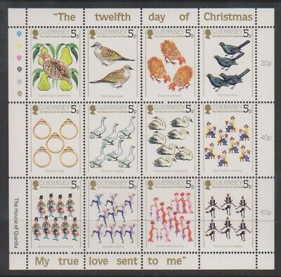 Guernsey - 1984, 12 Days Of Christmas Sheetlet - MNH - SG 316/27 • 0.99£