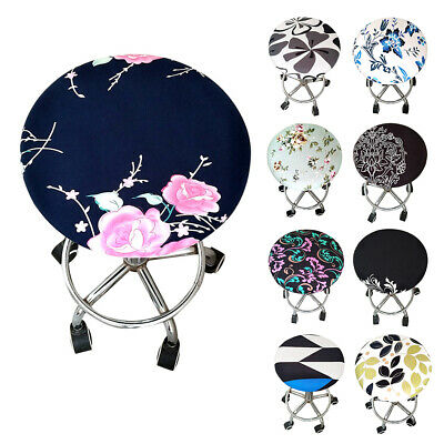 AU11.04 • Buy Office Soft Home Floral Printed Bar Elastic Seat Round Chair Stool Cover Meeting
