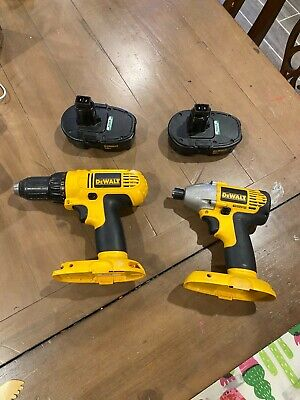 $79.99 • Buy Dewalt Dc759 Dw056 18v Drill & Impact Driver With 2 Batteries & Charger