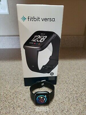 $ CDN44 • Buy Fitbit Versa FB504 HR Smartwatch Black Aluminium - Large