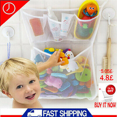 Baby Bath Bathtub Toy Mesh Net Storage Bag Suction Cup Bathroom Toy Organiser UK • 4.80£