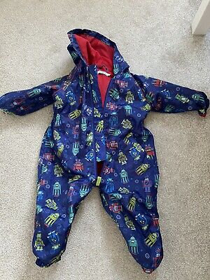 Boys Robot All In One Waterproof Puddle Splash Suit 9-12 12-18 Months • 2.80£