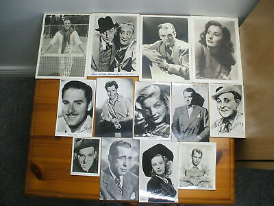 13 X 1940s Film Stars Original Photos Some Autographed Most In Mint Condition • 17.99£