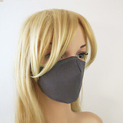 AU25 • Buy CHARCOAL 4 Ply 3D Cotton Drill Handmade Reusable Washable Non-surgical Face Mask