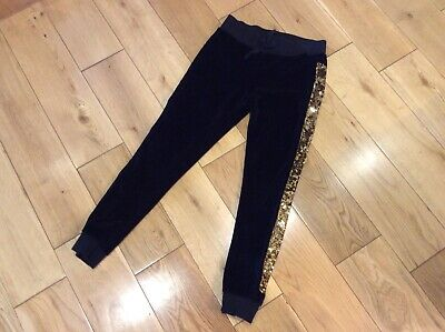 Girls Debenhams Blue Zoo Velvet Jogging Bottoms Size 7-8 Years • 5£