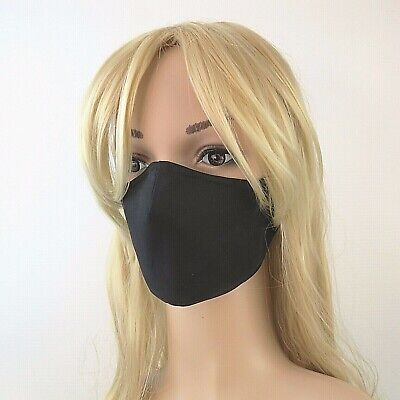 AU25 • Buy BLACK  4 Ply 3D Cotton Drill Handmade Reusable Washable Non-surgical Face Mask