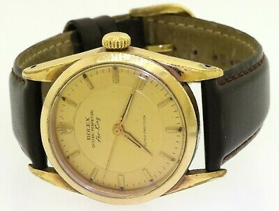 $ CDN2044.34 • Buy Rolex Air-King 5502 Vintage 34mm Gold Tone Automatic Men's Watch W/ Gold Dial