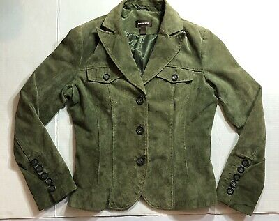 $ CDN35 • Buy DANIER Italian Leather Jacket Green Size Small / Fall Jacket /