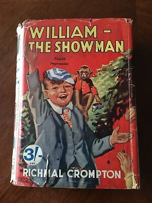 William The Showman Richmal Crompton 1939 Edition In Dust Jacket • 10£