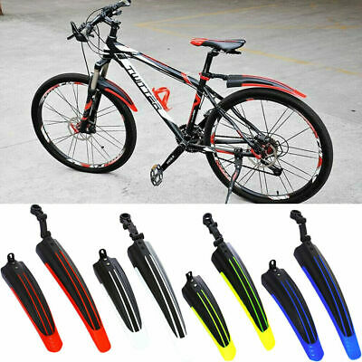 Bicycle Cycling Front Rear Mudguards Mud Set Mountain Bike Tire Fenders DIY Tool • 7.99£