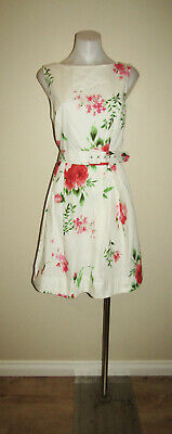 AU7 • Buy Cue Designer Size 14 Evening Dinner Party Floral Fit And Flare Dress