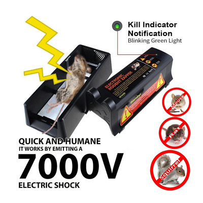Mouse Trap Electronic Mice Killer Rat Pest Control Electric Zapper Rodent UK EU • 27.99£