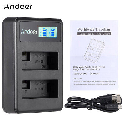 Battery Dual Charger For Canon 600D 550D 700D 650D KissX5 X4 T3i T5i T4i Y2P6 • 8.61£