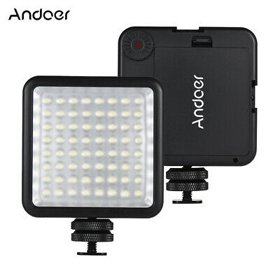 Andoer LED 64 USB Video Light Hot Shoe Lamp For Canon Nikon Camcorder DV M9J7 • 10.22£