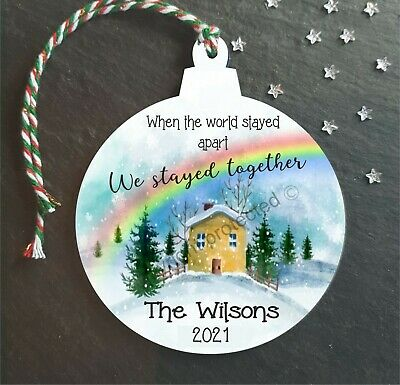 Christmas Year Of The Lockdown Personalised Tree Decoration Hanging Bauble Gift • 4.99£