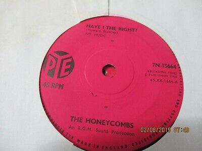 The Honeycombs/have I The Right • 1.50£