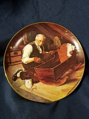 "$ CDN18.50 • Buy Knowles Collector Plates Norman Rockwell ""GRANDPA'S GIFT"" 1987  Free Shipping"