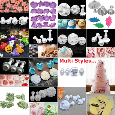 DIY Cookies Plunger Cutter Fondant Cake Decorating Biscuit Sugarcraft Mold To Cc • 3.60£