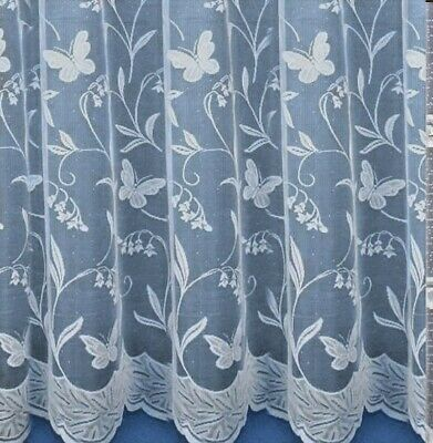 £2.89 • Buy Hawaii Butterfly White Net Curtain 36  Upto 90  Drop Sold By The Meter FREE POST