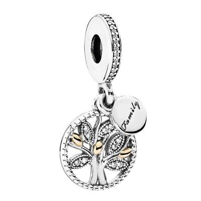 Genuine Pandora Family Heritage Pendant Charm S925 ALE Sterling Silver 791728CZ • 15.89£