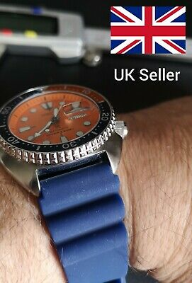 Blue Quality Diver's Silicone Watch Strap 22mm. 1.5mm Spring Bars Included. • 7.99£