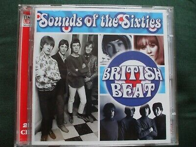 Time Life - Sounds Of The Sixties - British Beat Double CD.Discs In Ex Condition • 19.99£